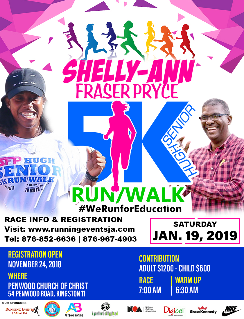 Shelly-Ann Fraser-Pryce / Hugh Senior 5K
